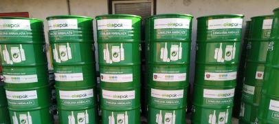 Ekopak provided 40 new containers to the Public Utility Company