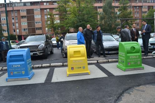 The first underground eco island in Canton Sarajevo - a new approach to the waste management