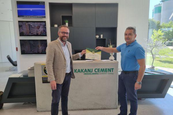 Tvornici cementa Kakanj uručen certifikat Zelena tačka 2020.