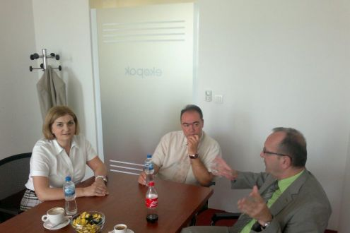 Edin Terzić, the counciler of the Federal Minister of Environment and Tourism, in a farewell visit to Ekopak