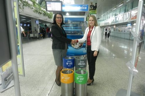 Sarajevo International Airport Gets Waste Bins for Packaging Waste Disposal