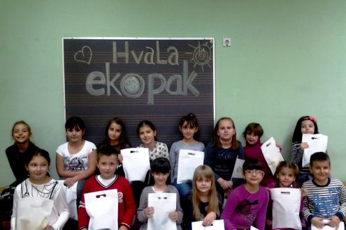 Children from Zenica through performance sent a message about the importance of recycling