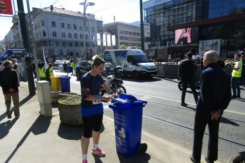 Recycling of packaging waste on 2. Spring-run in Sarajevo