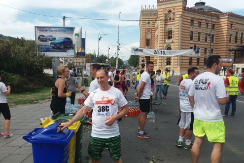 Recycling of packaging waste on 11. Sarajevo Half-marathon