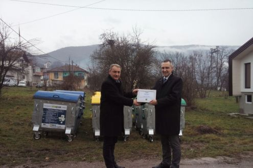 The handover of containers in the Municipality of Ustikolina