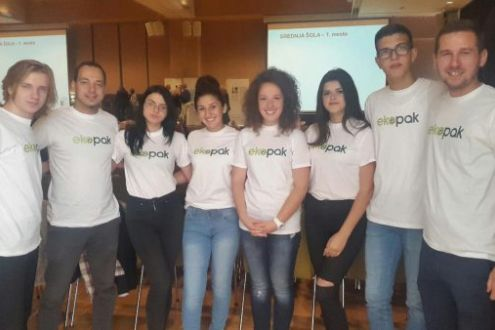The winners of contest Young Eco Reporters in a study visit in Slovenia
